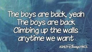 High School Musical   The Boys Are Back Lyrics Video) HD