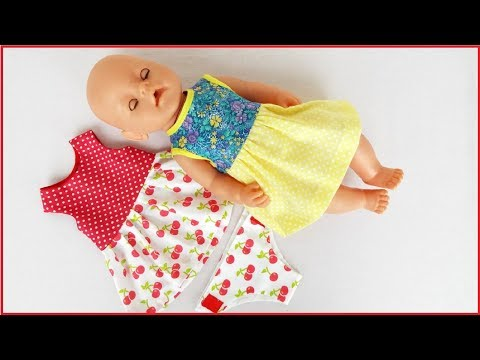 Как сшить платье для куклы беби бон своими руками