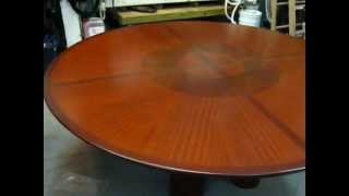 Price Reduction! Dining Table: Custom Made Mahogany Circular Dining Table