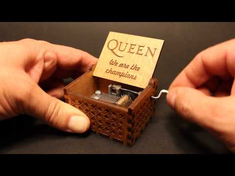 We Are The Champions - Queen Music box by Invenio Crafts