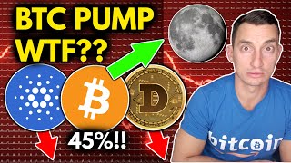 WHAT BUYING THE BITCOIN BOTTOM FEELS LIKE! BTC PUMPING! Altcoins Crash