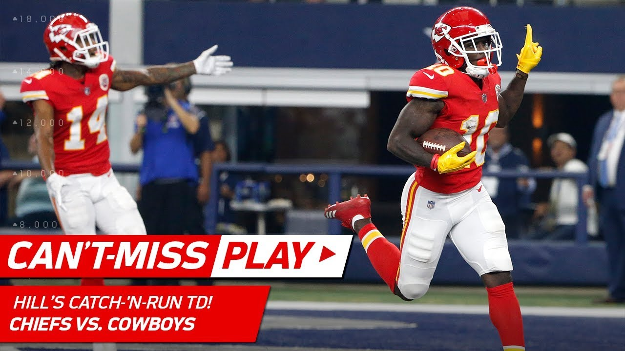 An Absolutely Insane TD by Tyreek Hill to End the Half