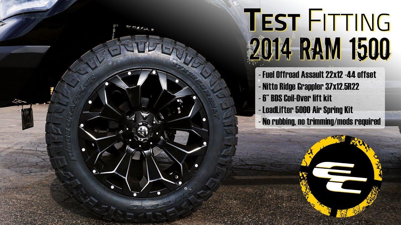 "F150 4 Inch Lift >> Test Fitting - 2014 Ram 1500 w/ 6"" BDS lift, 22"" Fuel Assaults, 37"" Nitto Ridge Grapplers ..."