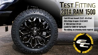 test fitting 2014 ram 1500 w 6 bds suspension kit fuel assault nitto ridge grappler