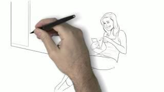 Mobile Engagement Whiteboard Illustration