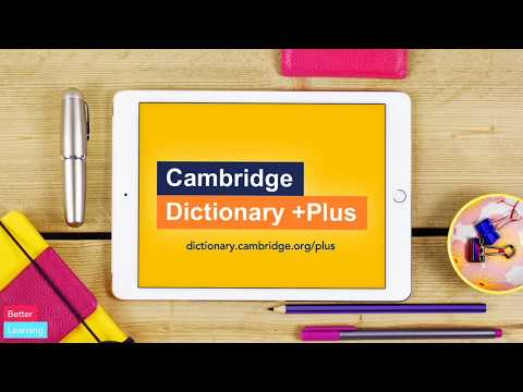 How To Use Cambridge Dictionary +Plus