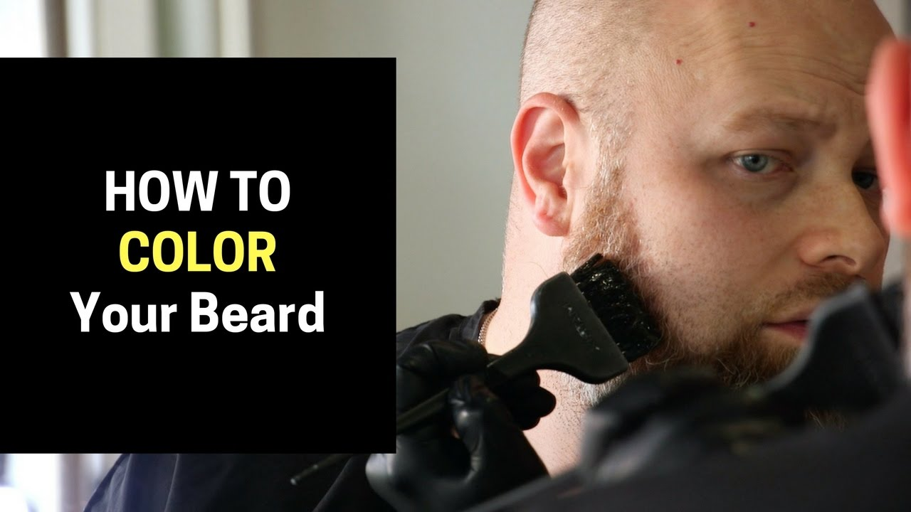 How to Color Your Beard - TheSalonGuy - YouTube