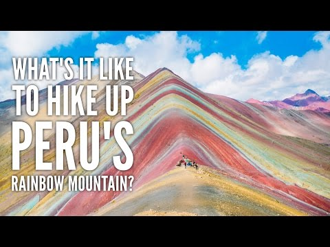 HIKING UP RAINBOW MOUNTAIN IN PERU || Peru Travel Vlog 7
