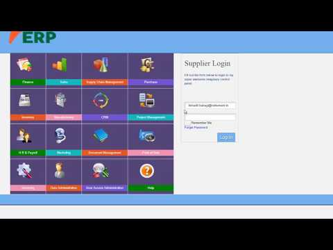 E - Tendering / Online Bidding - Purchase with supplier login : vERP