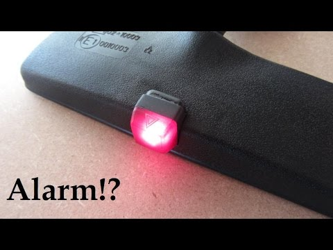 how to make car alarm mirror led light youtube