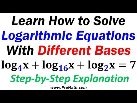 How to Solve Logarithmic Equations with Three Different Bases: Step-by-Step Explanation