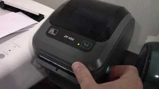 Zp 450  ZEBRA thermal Label printer - Test Print Endicia Postage