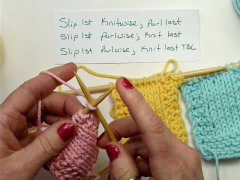 Slip Stitch Edges Knitting Youtube