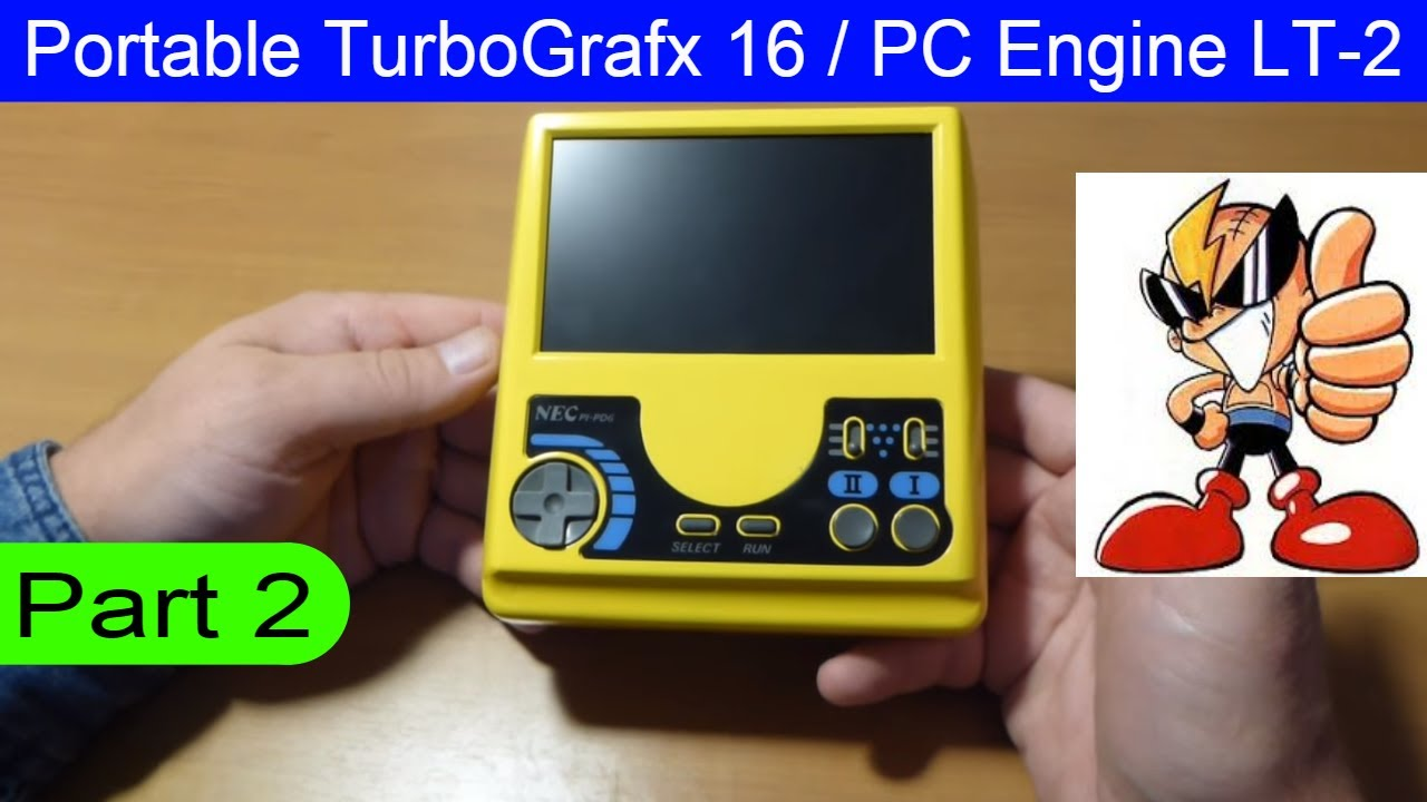 How to make Portable NEC TurboGrafx 16 / PC Engine GT / LT Home made PC  Engine LT-2 part 2