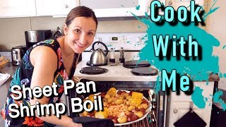 COOK WITH ME SHEET PAN SHRIMP BOIL ONLINE COOKBOOK COLLAB