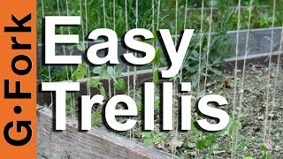 How To Make A Trellis : Gardenfork.tv
