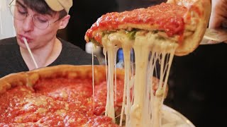 REAL CHICAGO DEEP DISH PIZZA = Pizza of Heaven!?