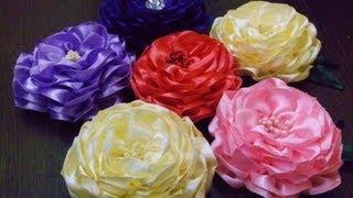 D.I.Y. Satin Ribbon Camellia Flower - Tutorial | MyInDulzens