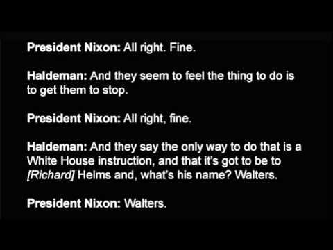 Nixon: raw watergate tape: 'smoking gun' section