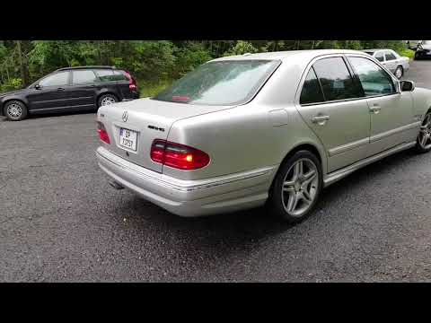 Mercedes E430 W210 with straight pipe exhaust by squirt