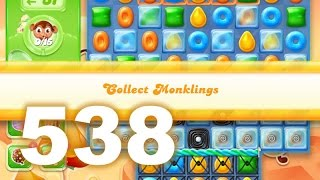 Candy Crush Jelly Saga Level 538 (3 star, No boosters)