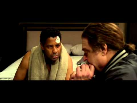 Denzel Washington FLIGHT scene cocaine