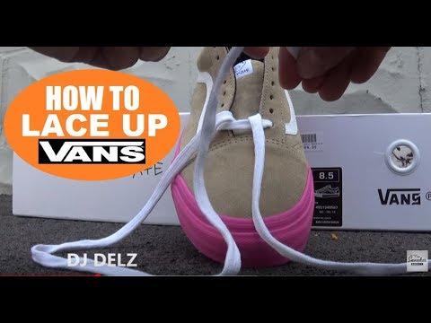 How I Lace My Vans Shoes