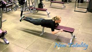 Back kicks bench assisted