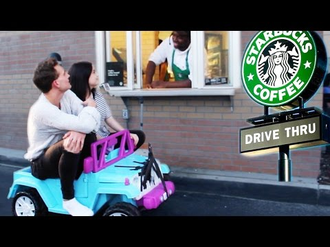 Thumbnail: DRIVING THRU STARBUCKS IN A TOY CAR w ANDREW LOWE! ~episode 3~