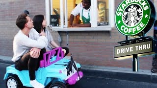 One of Amy Ordman's most viewed videos: DRIVING THRU STARBUCKS IN A TOY CAR w ANDREW LOWE! ~episode 3~