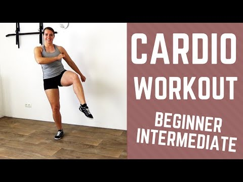 30 Minute Intermediate Cardio Workout for Weight loss – Fat Burning Cardio Exercises – No Equipment