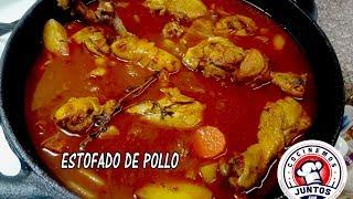 Estofado o guisado de pollo con muchas  verduras