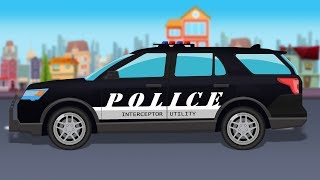 Police Utility Van | Formation and Uses | Police Vehicle | Car Cartoon