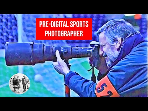 Pre-digital sports photographer - award-winning Mail photographer Ted Blackbrow