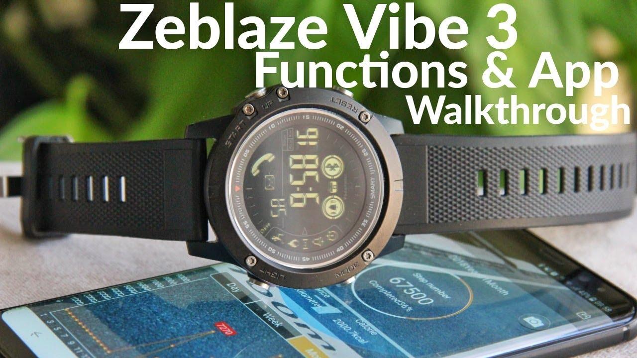 Zeblaze Vibe 3 App And Functions Walkthrough Youtube