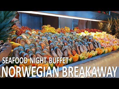 Norwegian Breakaway Seafood night buffet in Garden cafe
