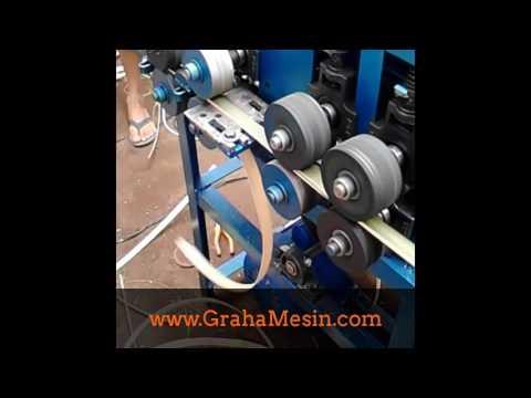 Mesin irat bambu untuk anyaman bambu