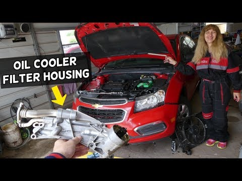 OIL FILTER HOUSING COOLER AND GASKET REPLACEMENT CHEVROLET CRUZE CHEVY SONIC