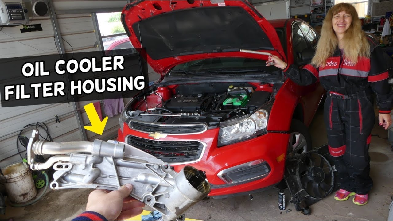 Oil Filter Housing Cooler And Gasket Replacement Chevrolet Cruze