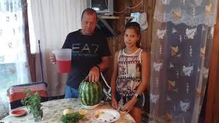 Веселый арбуз | пьяный арбуз | арбуз с алкоголем | арбуз с водкой | готовим на природе и дома