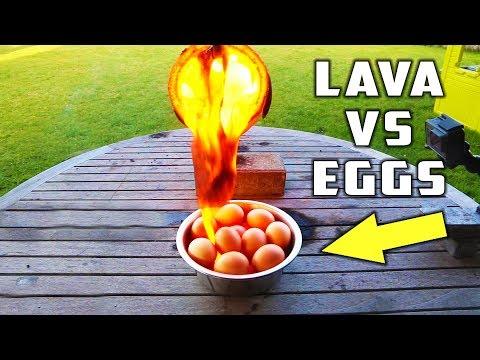 20 EGGS VS BALL OF LAVA
