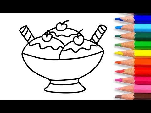 Menggambar dan Mewarnai Es Krim l Mewarnai Gambar Untuk Anak - YouTube