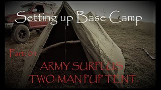 Survival on a Budget: US Army Surplus Pup-Tent