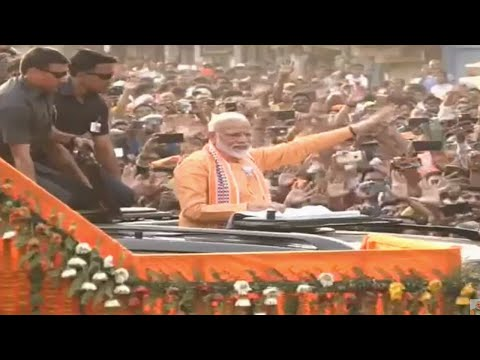 PM Modi launches mega Varanasi roadshow with tribute to Madan Mohan Malaviya