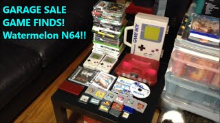 GARAGE SALE GAME FINDS! Watermelon N64!! | Scottsquatch