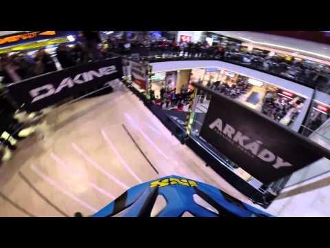 DOWNHILL inside shopping center (GOPRO)