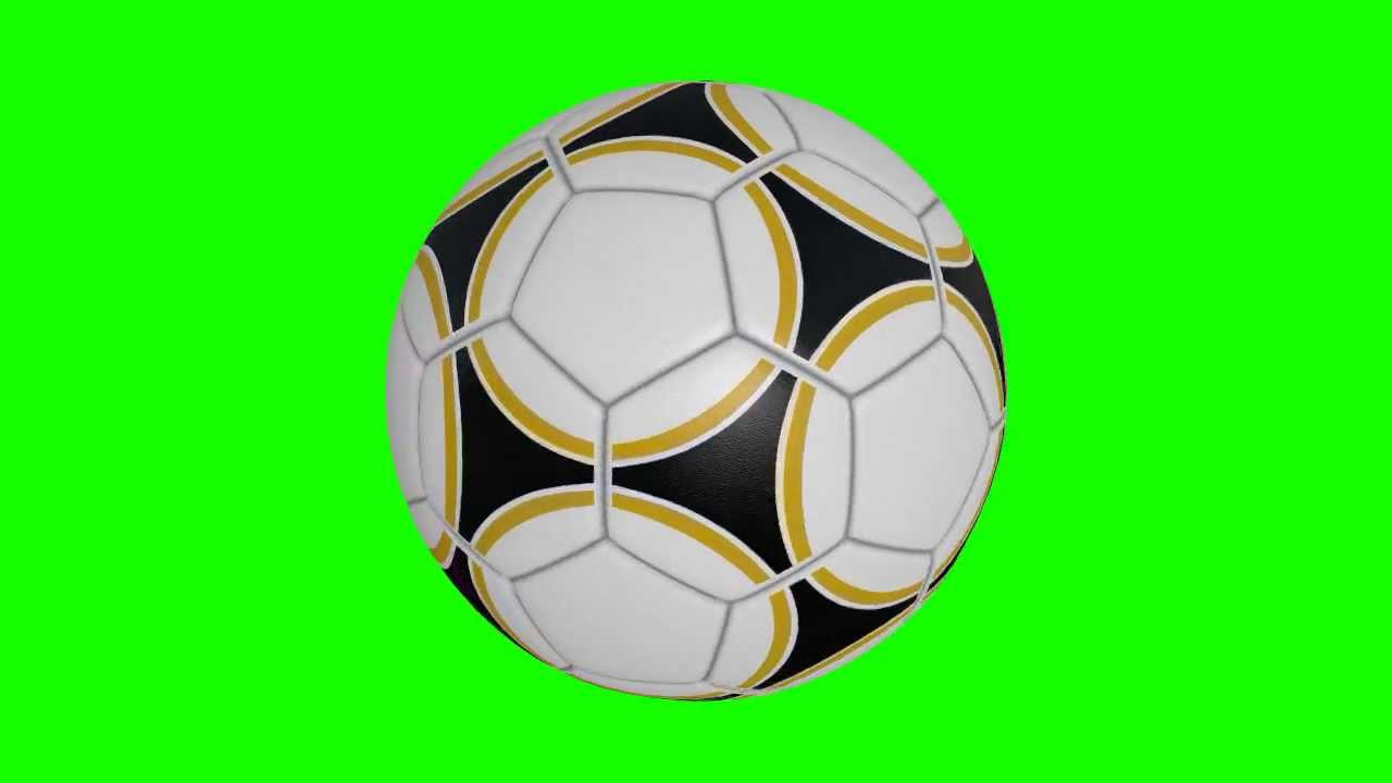 soccer ball in green screen free stock footage - YouTube