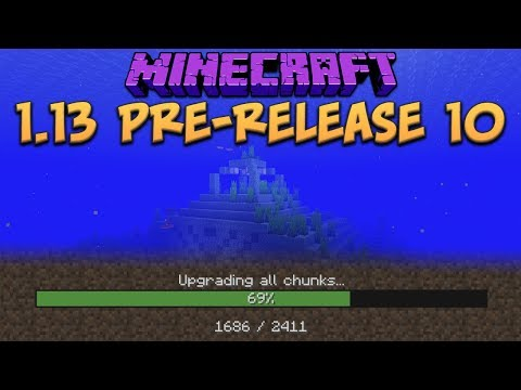 Minecraft 1.13 Update Pre-Release 10 New Optimize World Feature! Mob Farms Fixed!
