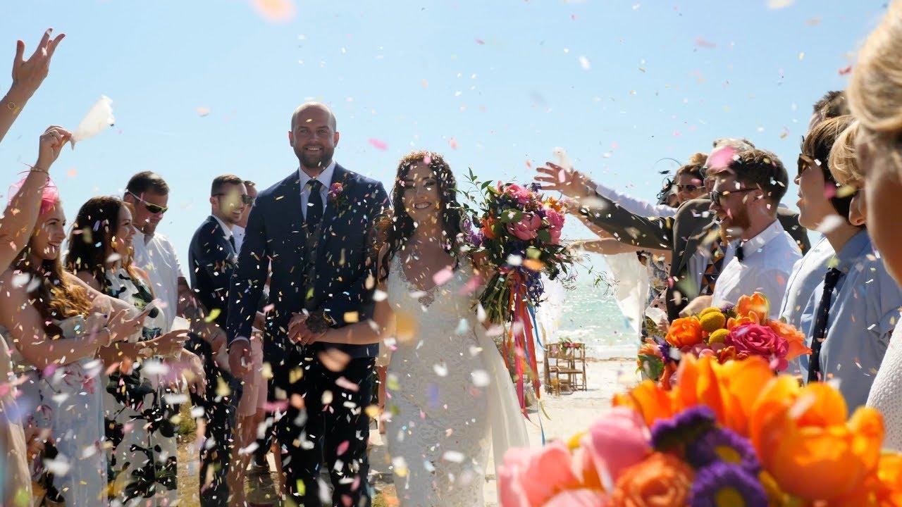 Download Siesta Key Beach Wedding - Rachel & Alex 2019 [4K]
