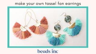 How to Make your Own Tassel Fan Earrings: A Tutorial